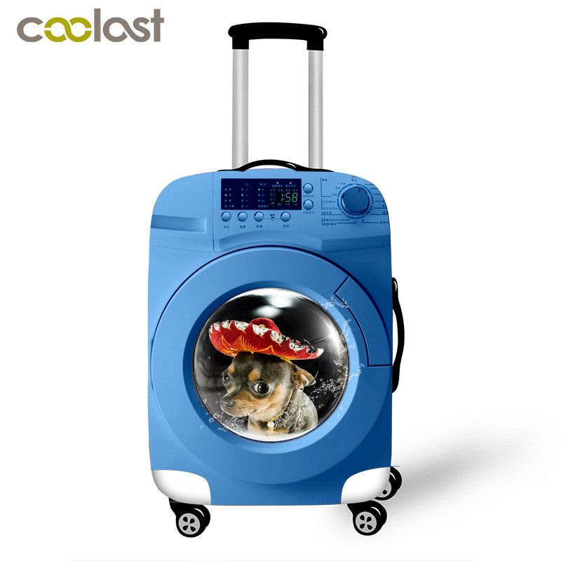 Funny Travel Suitcase Cover Luggage Protective Covers Apply to 18-32 Inch Trolley Case Cute Animal Dog Dust Rain Suitcase Cover bioaqua exfoliante para pies