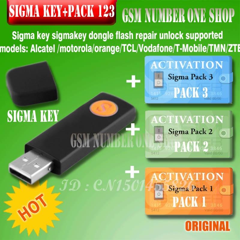 100% original Sigma clé avec pack1.2.3 activé complet sigmakey dongle pour alcatel alcatel huawei réparation flash déverrouillage
