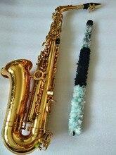 Саксофон альт инструмент высококачественный французский SAS-802 Новый Золотой Саксофон реальное изображение пути подарок поставлен Sax