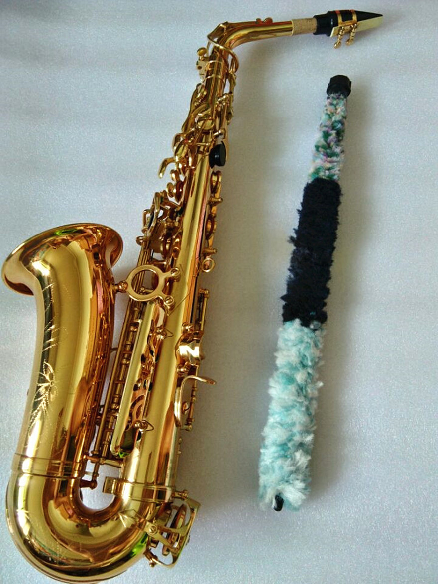 Saxophone Alto instrument High quality SAS-802 new Golden alto sax instrument Real picture way the gift is shipped Sax