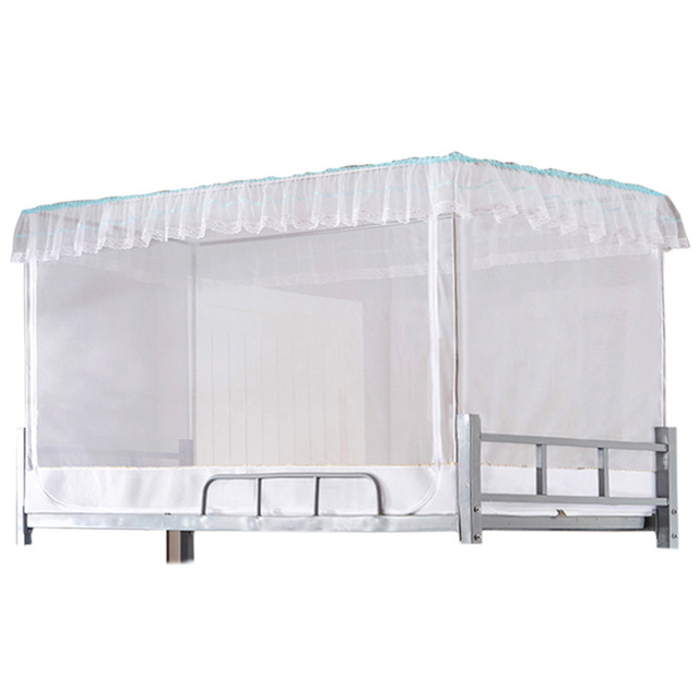 Bed Canopies Student Mosquito Net Tents Bunk Mesh Tent Rectangle Single Door Netting