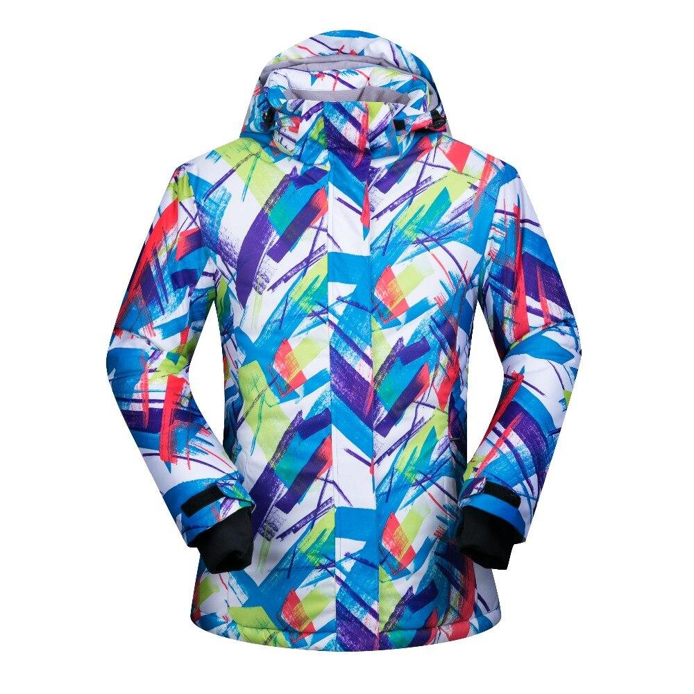 Prix pour Hiver Femmes Ski Veste Coupe-Vent Imperméable Neige Épaissir Thermique Snowboard Vêtements Respirant Chaleur Manteau Femelle Marques