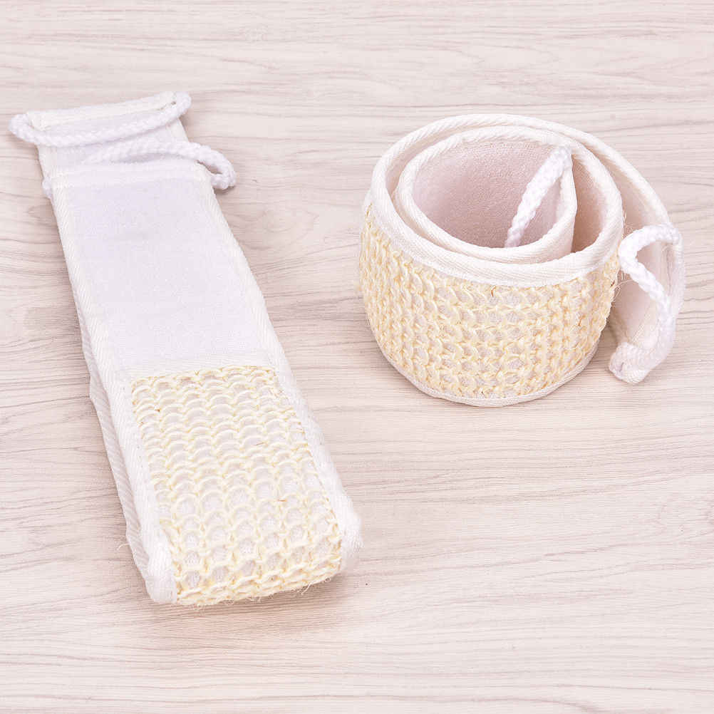 1 pc Unisex Weiche Peeling Luffa Natürliche Körper Zurück Pinsel Strap Bad Dusche Massage Spa Wäscher Schwamm Haut körper waschen