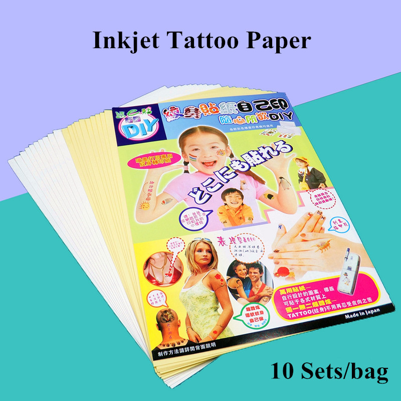 Inkjet Temporary Tattoo Transfer Pringting Paper A3 Size (29.7cm x 42cm) Fake Tattoo Men Waterproof Temporary Tattoos DIY Art