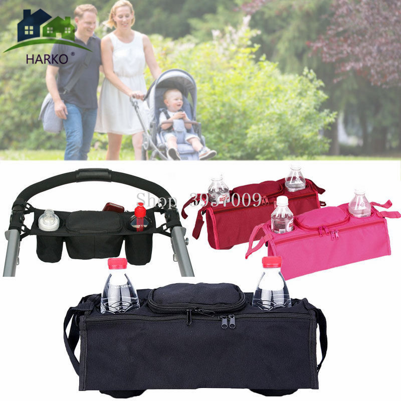 Multicolor Baby Stroller Accessories Baguniversal Cup Bag Baby Stroller Organizer Baby Carriage Pram Baby Cup Holder