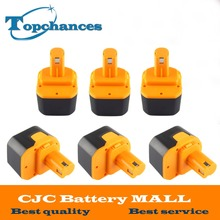 6X Newest 12V 2000mAh Ni-CD Rechargeable Power Tool Battery for Ryobi 1400652 1400652B 1400670 B-1230H B-1222H B-1220F2 B-1203F2