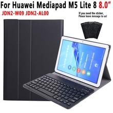 คีย์บอร์ดBluetoothสำหรับHuawei Mediapad M5 Lite 8 8.0 JDN2 W09 JDN2 AL00 กรณีสำหรับHuawei M5 Lite 8 funda + ปากกา