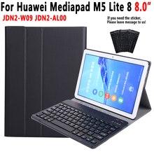 Funda de teclado Bluetooth para Huawei Mediapad M5 Lite 8 8,0 JDN2 W09 JDN2 AL00 del teclado para Huawei M5 Lite 8 cubierta Funda + Pen