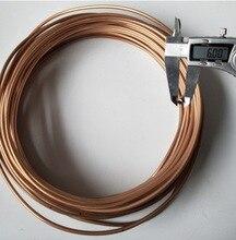 3 meters/partij Buitendiameter: 6mm Dikte: 1mm Flexibele Koperen Buis Airconditioner Koperen Buis Pijp