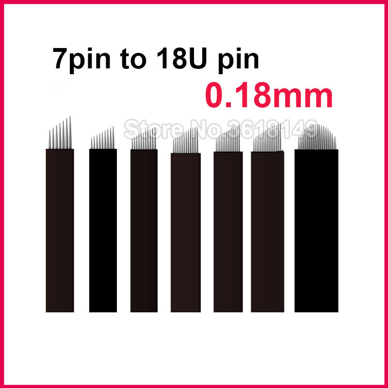 0 18mm LaminasTebori Tattoo Needles Permanent Makeup Microblading Flex 7 9 11 12 14 18U for Eyebrow Lip in Tattoo Needles from Beauty Health
