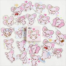 45 pcs/ box Hand-painted inset pink pig mini paper sticker decoration DIY diary scrapbooking seal sticker Kawaii stationery(China)