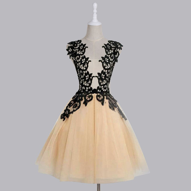c4a7f5cd01 Dresstells Vintage Black Lace Straps A-line Tulle Short Prom Dress  Homecoming Dress Cocktail Dress Plus Size Custom Made