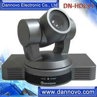 Livraison gratuite DANNOVO caméra de vidéoconférence de bureau, Zoom optique 1080 P/60, 10x, HD-SDI, HDMI, Ypbpr, sortie vidéo AV (DN-HDC11)