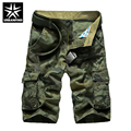 Urbanfind estilo militar dos homens do algodão shorts da carga tamanho 29-38 padrão de camuflagem homem casual multi-bolso calções