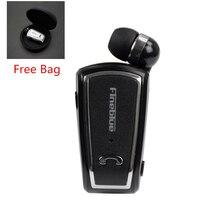 Fineblue F V3 Mini Controlador Inalámbrico de Auriculares Bluetooth Estéreo 4.0 Auricular Retráctil Clip Correr Auriculares para Smartphone