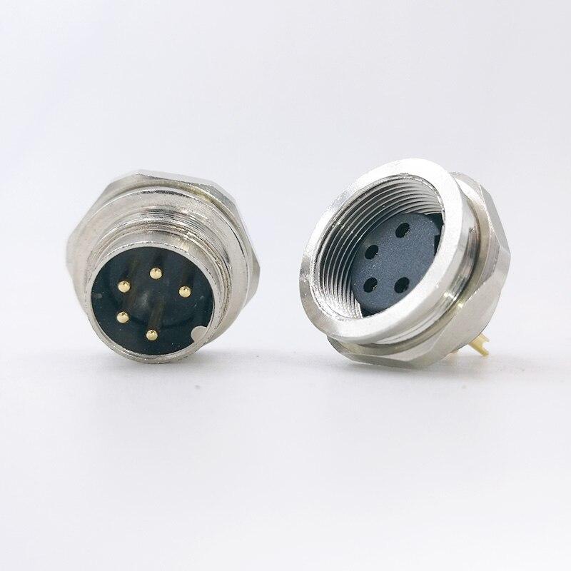 Sensor Connector M16 Flange Socket Panel Back Mount Male&Female 2 3 4 5 6 7 8Pin