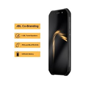 """Image 2 - AGM A9 JBL 共同ブランディング 5.99 """"4 グラム + 32 グラムアンドロイド 8.1 頑丈な電話 5400mAh IP68 防水スマートフォンクアッドコアボックススピーカー NFC"""