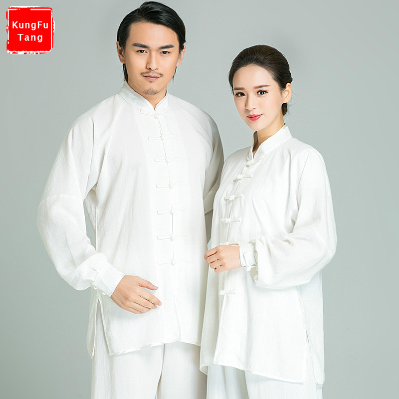 цены 14Colors Top Grade Chinese Tai chi uniforms Cotton Linen Wudang Kung fu Clothing Shaolin Monk Suit Wushu Martial arts Clothes