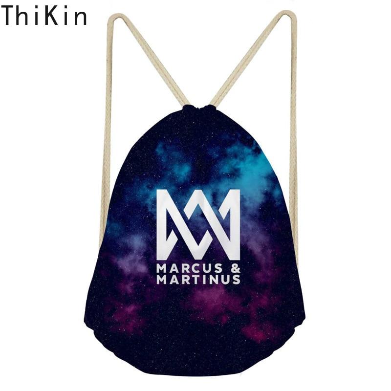 THIKIN Marcus And Martinus Drawstring Bags Children Backpacks For Teenager Girls Mini Backpack Kids Beach Travel Bag Plecak 2019