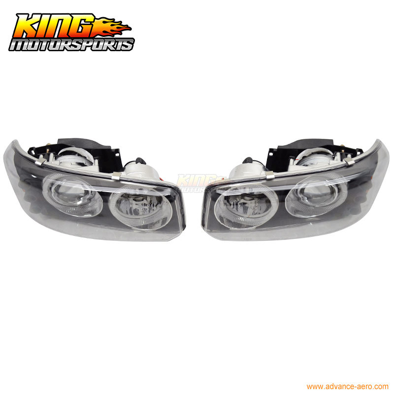 For Denali Yukon Sierra Black 2 Halo Projector Front Headlights Head Lamp USA Domestic Free Shipping Hot Selling