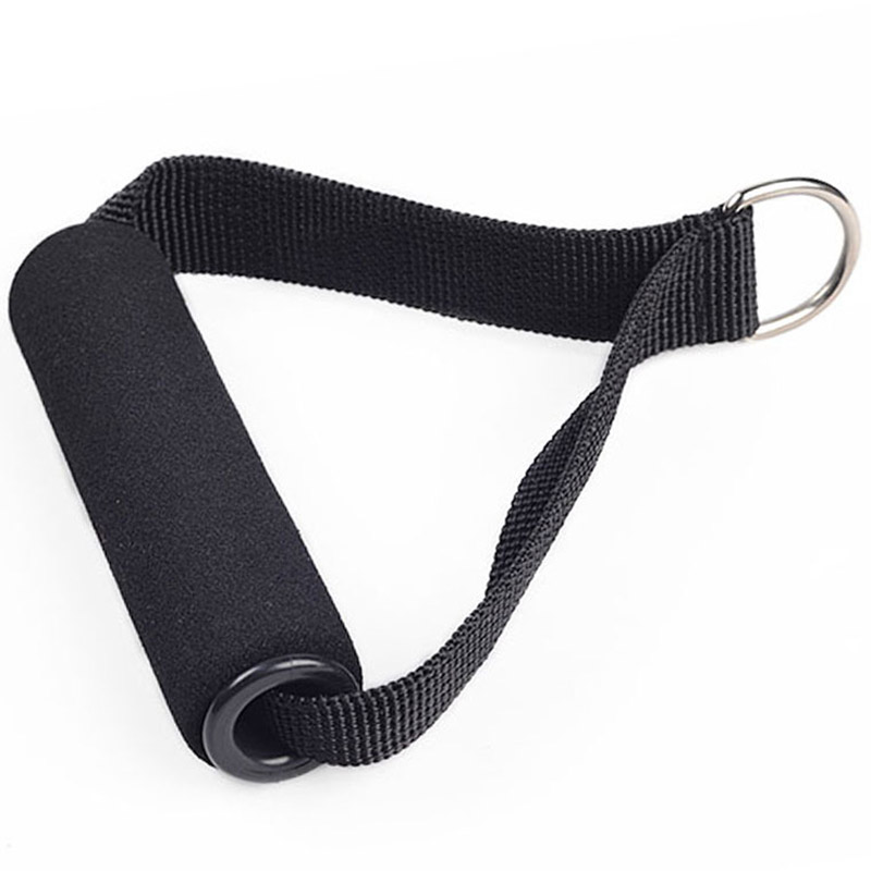 1pcs Black Nylon Tricep Rope Cable Handle Cable Crossover Gym Machine Attachment Resistance Fitness Exercise Sports Accessories