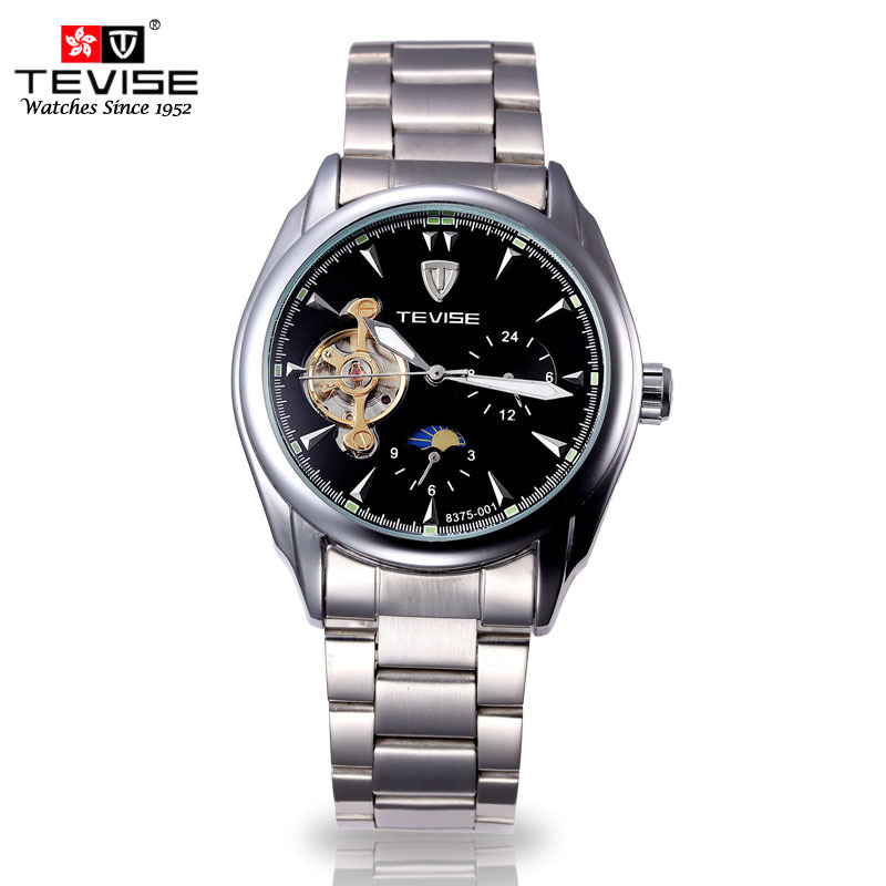 Relojes Hombre Brand Clock Tourbillon Watch Men Full steel Strap Mechanical Watches Fashion Casual Men Wristwatch
