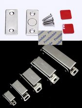 10Pcs/Lot Stainless Steel Furniture Cabinet Cupboard Magnetic Door Catch Latch Magnet Thin Catcher(China)