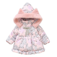 Baby Girls Jacket Autumn Winter Jacket For Girls Coat Kids thick Warm Hooded cat ear Outerwear Children Infant printing Clothes winter baby girls clothes warm jacket xmas snowsuit girls winter coat 3 13y baby hooded jacket outerwear velour kids snowsuitsr