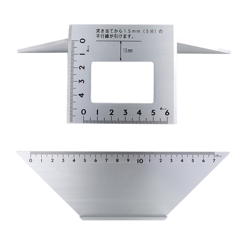 Multifunctional Square Angle Ruler 45 degree 90 degree Aluminum Alloy Protractor Carpentry Gauge Woodworking Measuring Tools