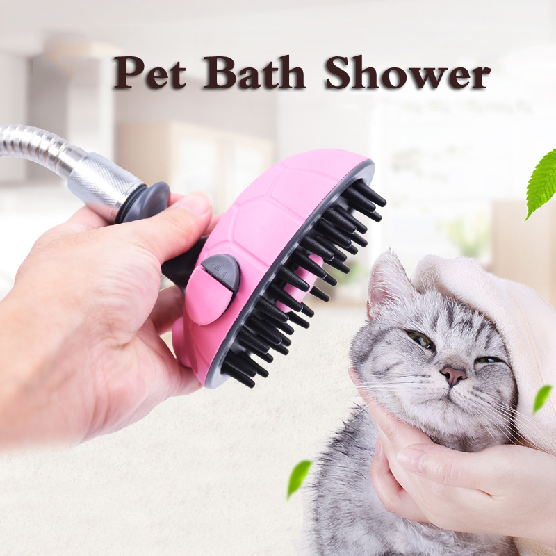 Dog Bath Spray Puppies Cats Animal Little Medium Large Pet Water Sprayer Cleaning Grooming Bathing Message Device Yorkie Terrier ...