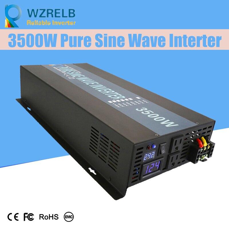 Onduleur solaire à onde sinusoïdale pure 3500 w de puissance continue fiable convertisseur solaire à onde sinusoïdale pure 24 V hors réseau