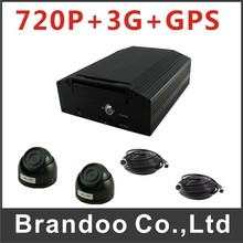 4CH 720P HDD MDVR with 2 cameras kit, including 3G+GPS function.