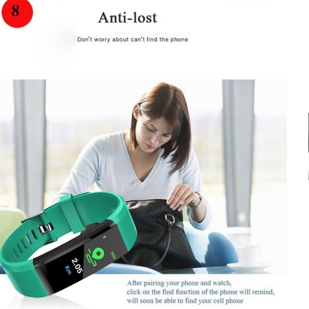 Image 3 - Passometer Smart Bracelet ID115Plus Sport Bluetooth 4.0 Wristband Watch Activity Fitness Tracker Smart Band PK Mi band 2 3-in Smart Wristbands from Consumer Electronics