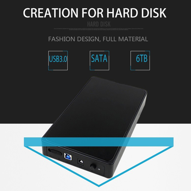 New Fashion External HDD Enclosure Case Box 3.5inch USB3.0 SATA External Storage Enclosure