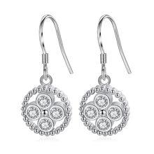 Женские серьги подвески из серебра 925 пробы со звездой
