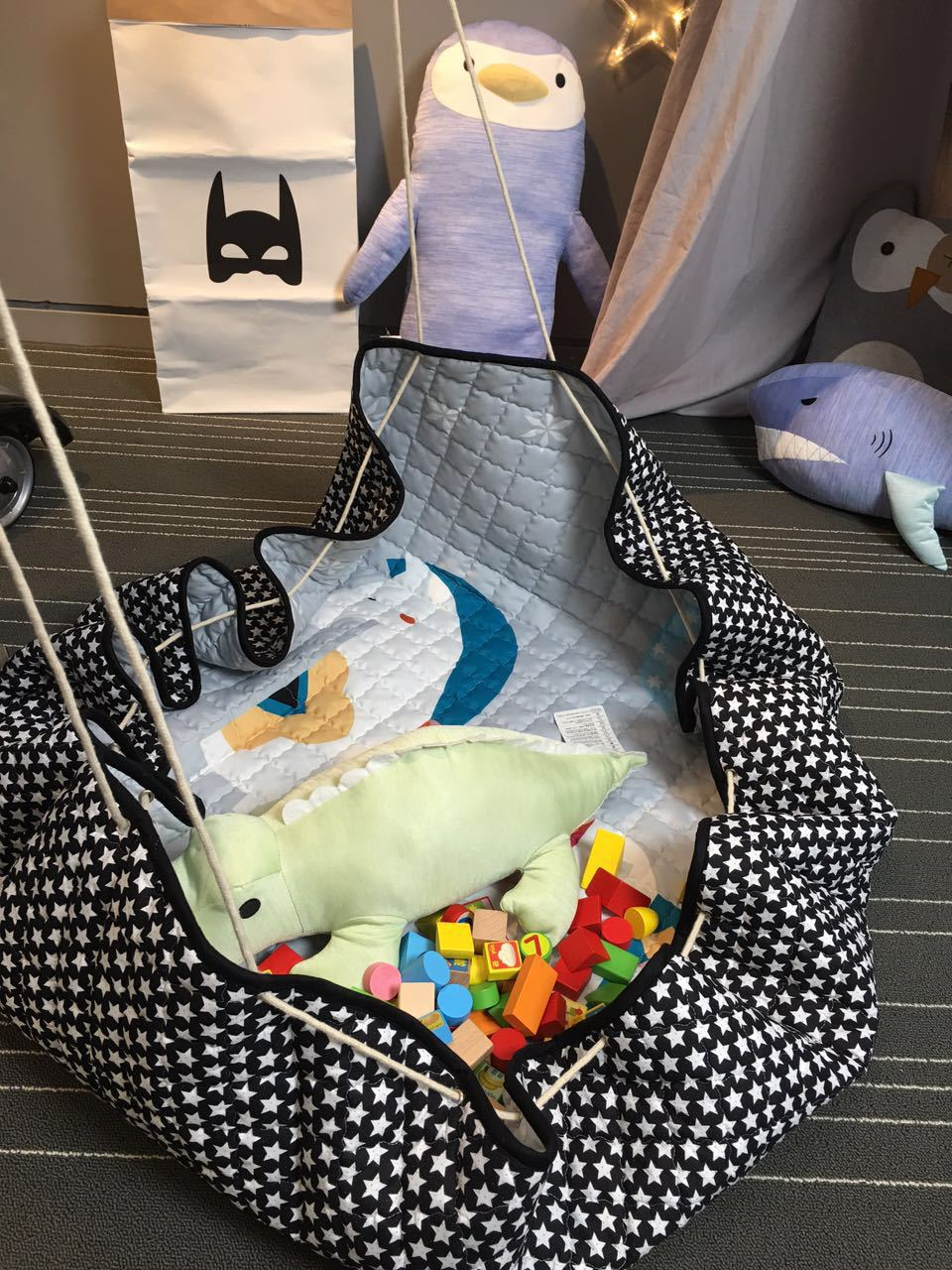 Kids Baby Play Mats Toys Storage Bag