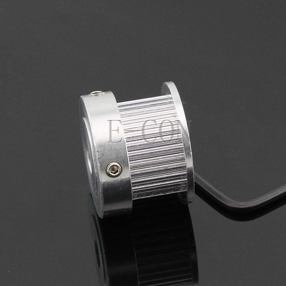 2 pcs GT2 Aluminum Timing Belt Pulleys 30T 5mm Bore 11mm Width for 3D Printer