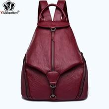 Fashion Anti Theft Women Backpack Large Capacity Bookbag Brand Leather Backpack Female Designer Shoulder Bags for Women Mochila