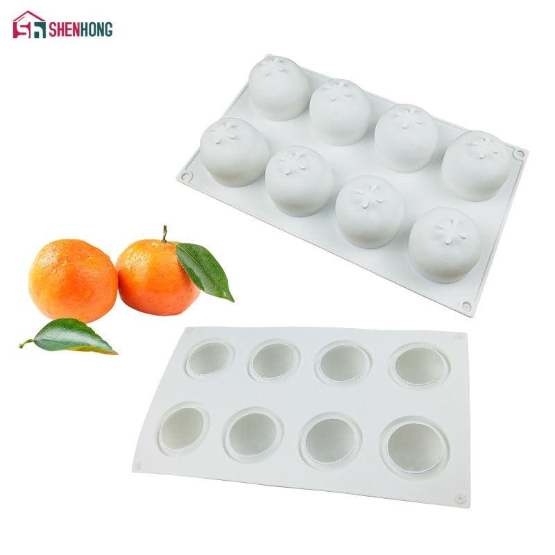 SHENHONG оранжевая силиконовая форма для торта для выпечки кондитерских изделий форма мандарина оранжевого цвета десерты конфеты плитка для в...