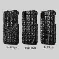 Natural crocodile skin phone case For Xiaomi 9 9 SE 9T 8 A2 Business luxury Fall protection cover for Redmi 7 Pro 6A 6 5 5plus