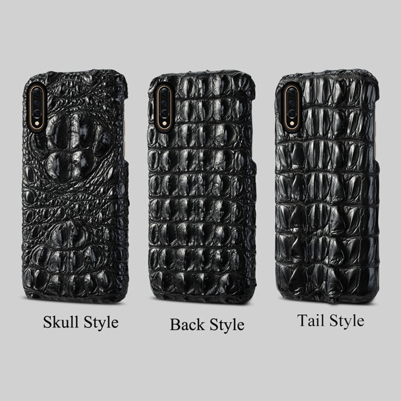 Naturel peau de crocodile étui de téléphone pour xiaomi 9 9 SE 9T 8 A2 de luxe D'affaires Automne housse de protection pour Redmi 7 Pro 6A 6 5 5plus