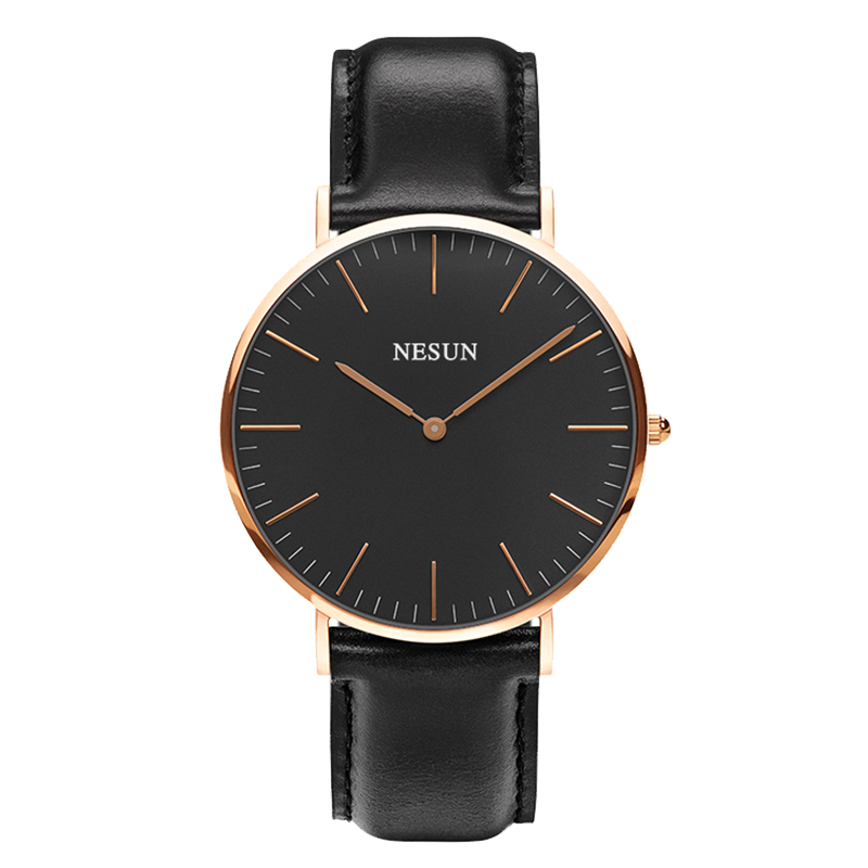 Switzerland Nesun Watch Men Luxury Brand Japan MIYOTA Quartz Movement Men's Watches Genuine Leather Waterproof Clock N8801-LM2