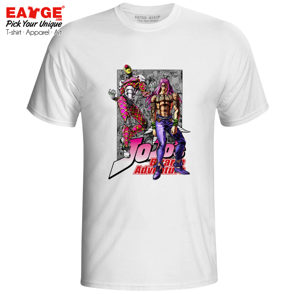 Diavolo And His Stand King Crimson T Shirt JoJo's Bizarre Adventure Golden  Wind Anime Cool T-shirt Style Active Punk Unisex Tee