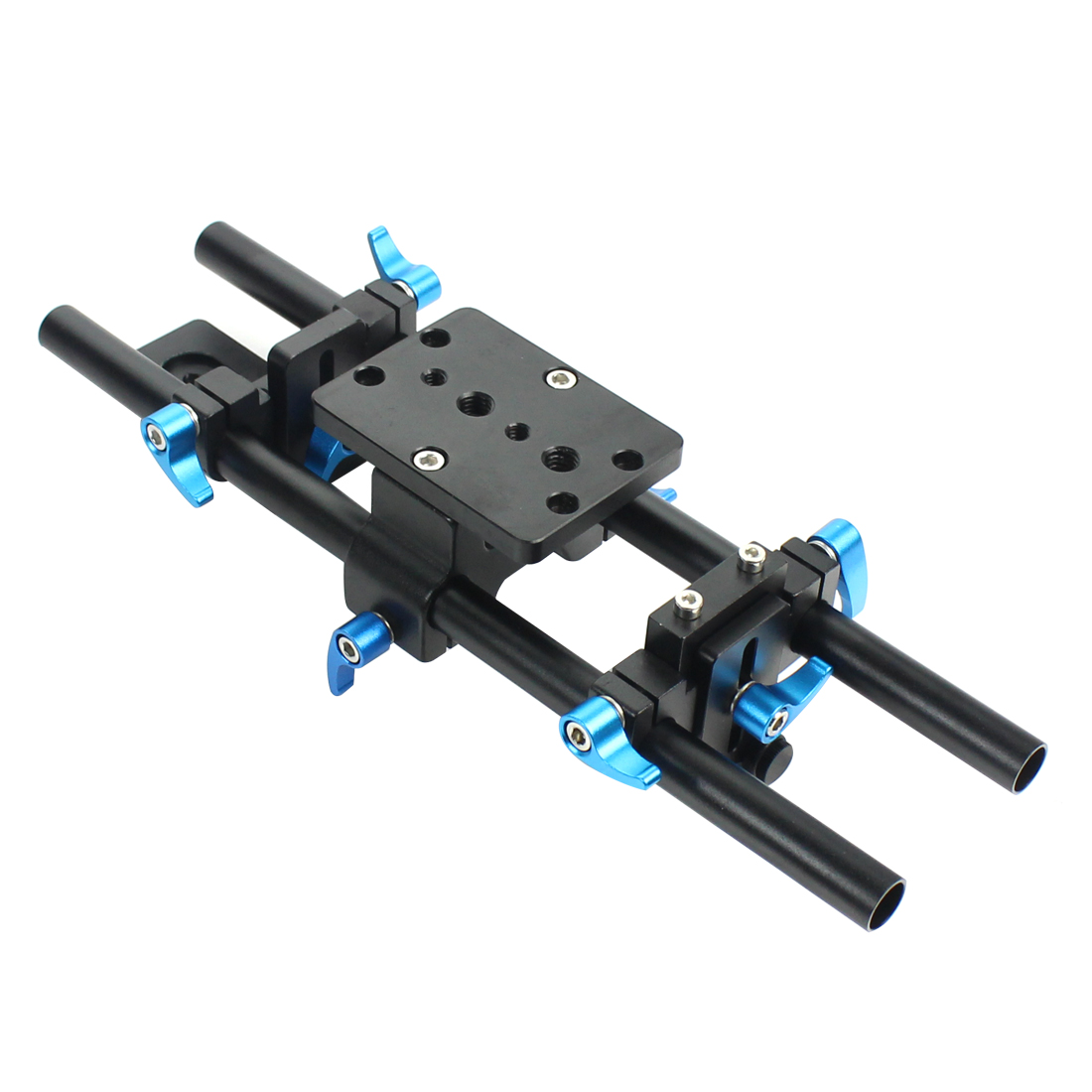 15mm Rail Rod Support System Track Rail Slider Baseplate with 1 4 Screw Quick Release Plate