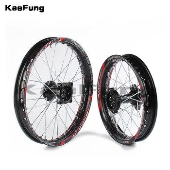 """Black 12mm 15mm Front 1.40-14"""" inch Rear 1.85-12"""" inch Alloy Wheel Rim For 160cc 150CC Dirt Pit bike 12 14 inch wheel"""