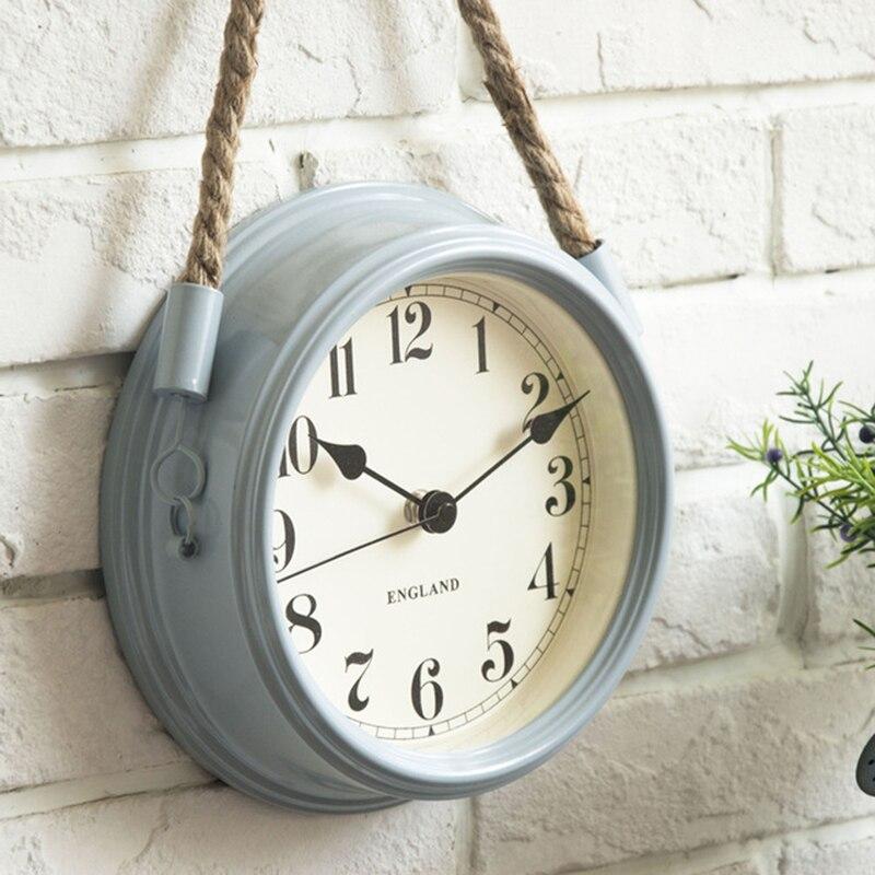 Nordique moderne minimaliste horloges horloge murale salon en fer forgé métal horloges Creative Quartz horloge personnalité