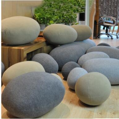 2018 новая горячая креативная 3D имитация каменной подушки галька хлопок задняя подушка ленивый креативный домашний декор забавная мягкая подушка