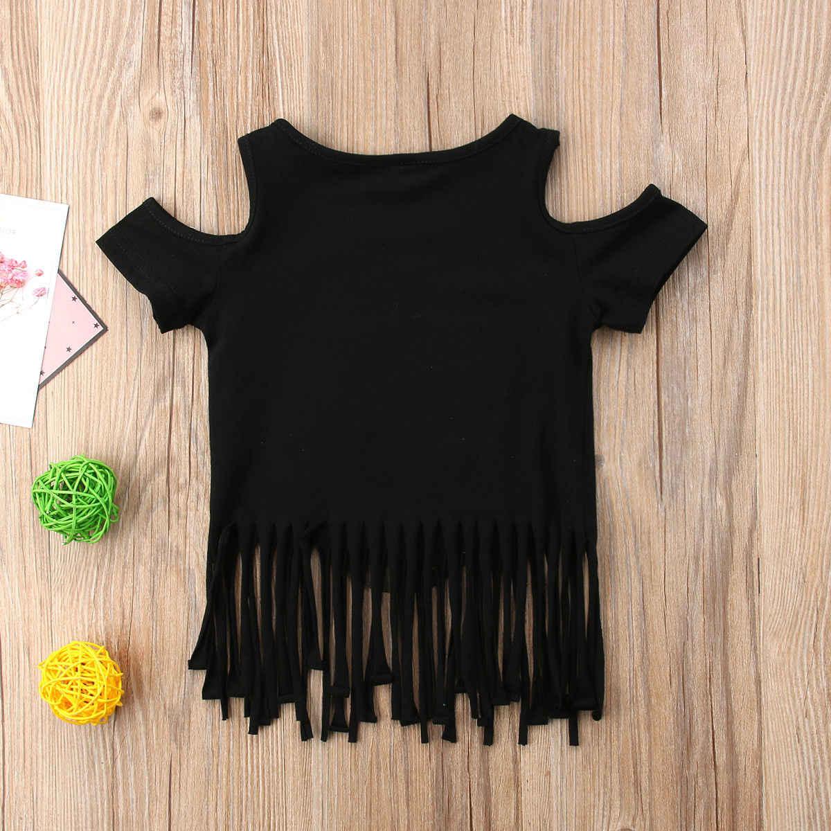 bdc8496b3fec2 ... 2018 Sequins Owl Printed Tops Toddler Kids Baby Girl Tassel T-shirt  Cotton Summer Cute ...