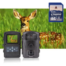 Free shipping!RD1003 8GB No Glow 8MP 850nm Infrared Digital Hunting Camera Animal Trap Trail Scouting Camera Security Camera DVR