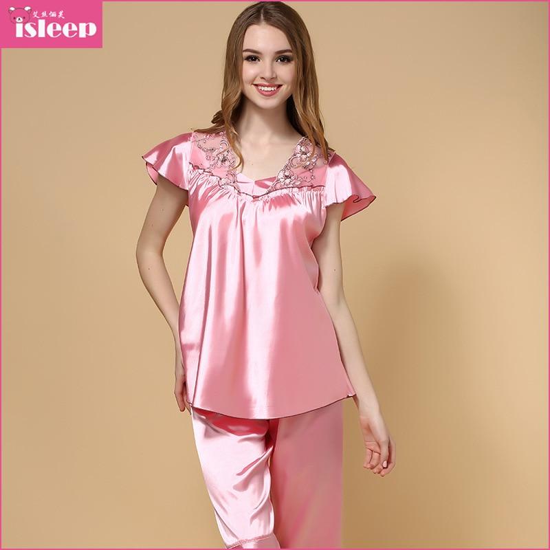 574743bc0e Summer Style Imitated Silk Pajamas For Women Nightwear Soft Women Pajama  Chinese Market Online Pijamas Seda Camisolas De Dormir en Conjuntos de  pijamas de ...